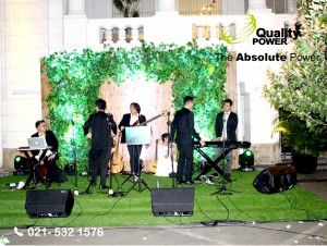 Rental Sound System supported by Quality Power Wedding of Juda & Melia at Museum BI Jakarta, 11 June 2017.