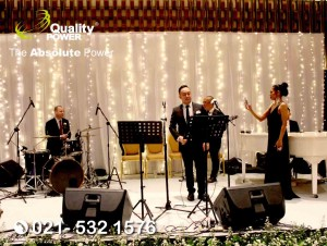 Rental Sound System supported by Quality Power, Wedding of Mark & Marissca at Ayana Hotel Jakarta, 01 July 2018