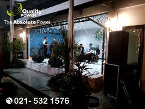 Rental Sound System supported by Quality Power Wedding of Mia & Zakky at SD Cikal Cendikia Jakarta, 22 July 2017.