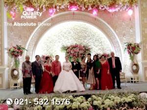 Rental Sound System supported by Quality Power Wedding of Michael & Christine at Holliday Inn Hotel Jakarta, 12 May 2018