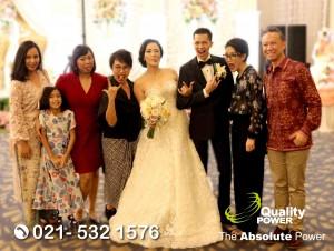 Rental Sound System supported by Quality Power, Wedding of Ramadana & Laura at Ballroom Sheraton Hotel Jakarta, 27 April 2018.