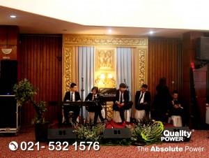 Rental Sound System supported by Quality Power Wedding of Yoseph & Catrine at Sinema Wedding Hall Jakarta, 04 November 2017.