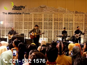 Rental Sound System supported by Quality Power wedding of Yustisia & Bayu at Sasana Kriya TMII Jakarta. 17 December 2017.