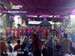 Rental Sound system supported by Quality Power  Promotion The Arts of Bangka Belitung at Anjungan Babel TMII - Jakarta, 26 February 2017.
