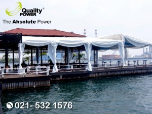 Rental Tent supported by Quality Power JETSKI Cafe at Pantai Mutiara Jakarta, 16 September 2017.