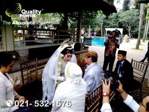 Sound System supported by Quality Power, Happy Wedding at Plataran Cilandak Jakarta, 08 April 2018.