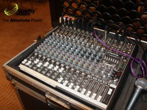 Sound system supported by Quality Power Indonesia